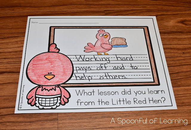 The Little Red Hen - Lesson Learned Writing
