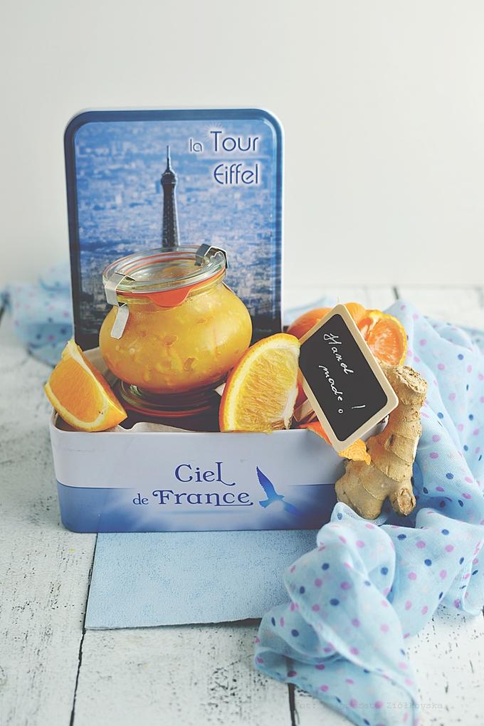 Dżem pomarańczowo mandarynkowy z imbirem