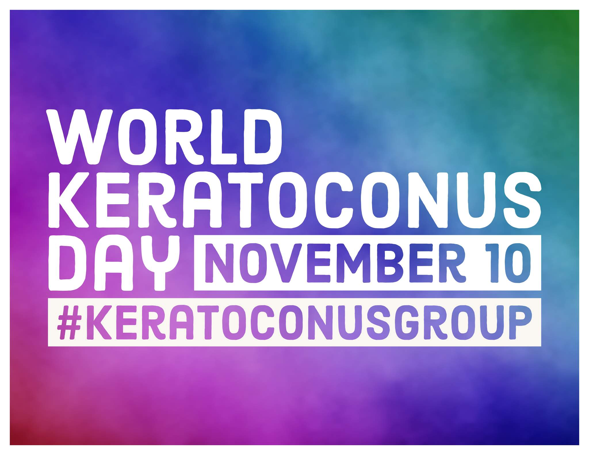 National Keratoconus Day 2018 Poster