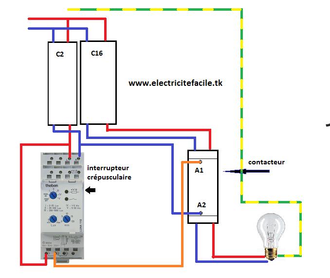 schema electrique raccordement cablage interrupteur cr pusculaire schema electrique. Black Bedroom Furniture Sets. Home Design Ideas