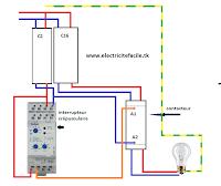 sch mas lectriques schema de cablage electrique interrupteur cr pusculaire. Black Bedroom Furniture Sets. Home Design Ideas