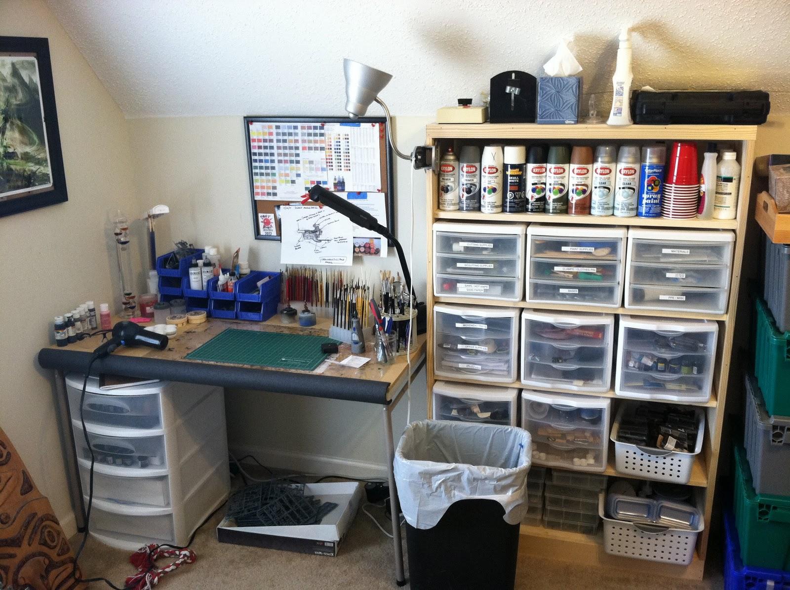 Craft Room Lights Desks