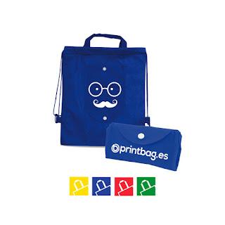 Mochilas para niños plegables personalizadas azules