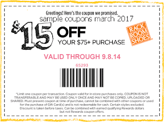 Rack Room Shoes coupons march 2017