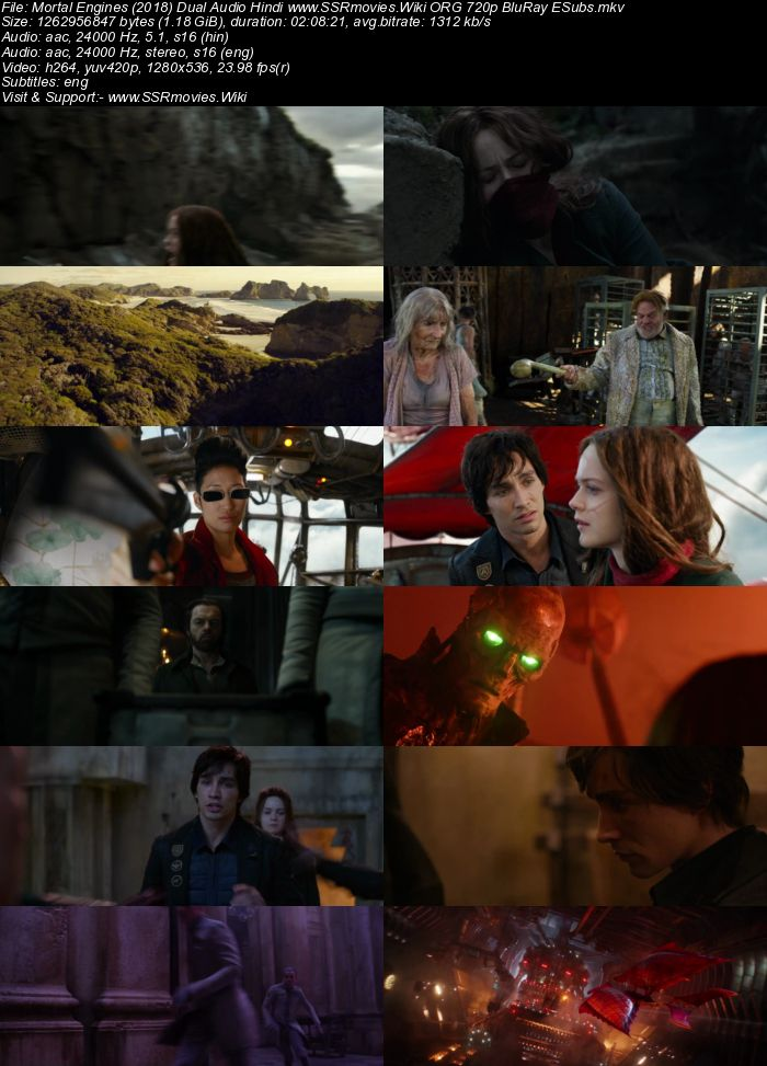 Mortal Engines (2018) Dual Audio Hindi ORG 480p BluRay 400MB ESubs Download