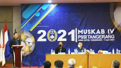 Muskab IV, Wabup Tangerang Ajak PSSI Terus Gelorakan Sepakbola