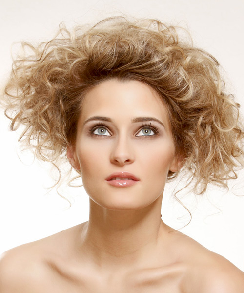 Dewi Image: Casual Updo Medium Curly Hairstyles