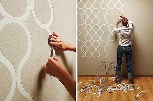 Wallpaper dinding lebih unggul dibanding cat tembok - Cara pasang wallpaper ...