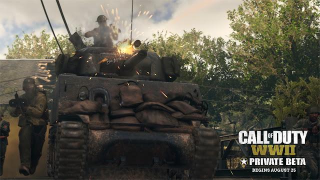 الإعلان رسميا عن محتوى البيتا المغلقة للعبة Call of Duty : WWII