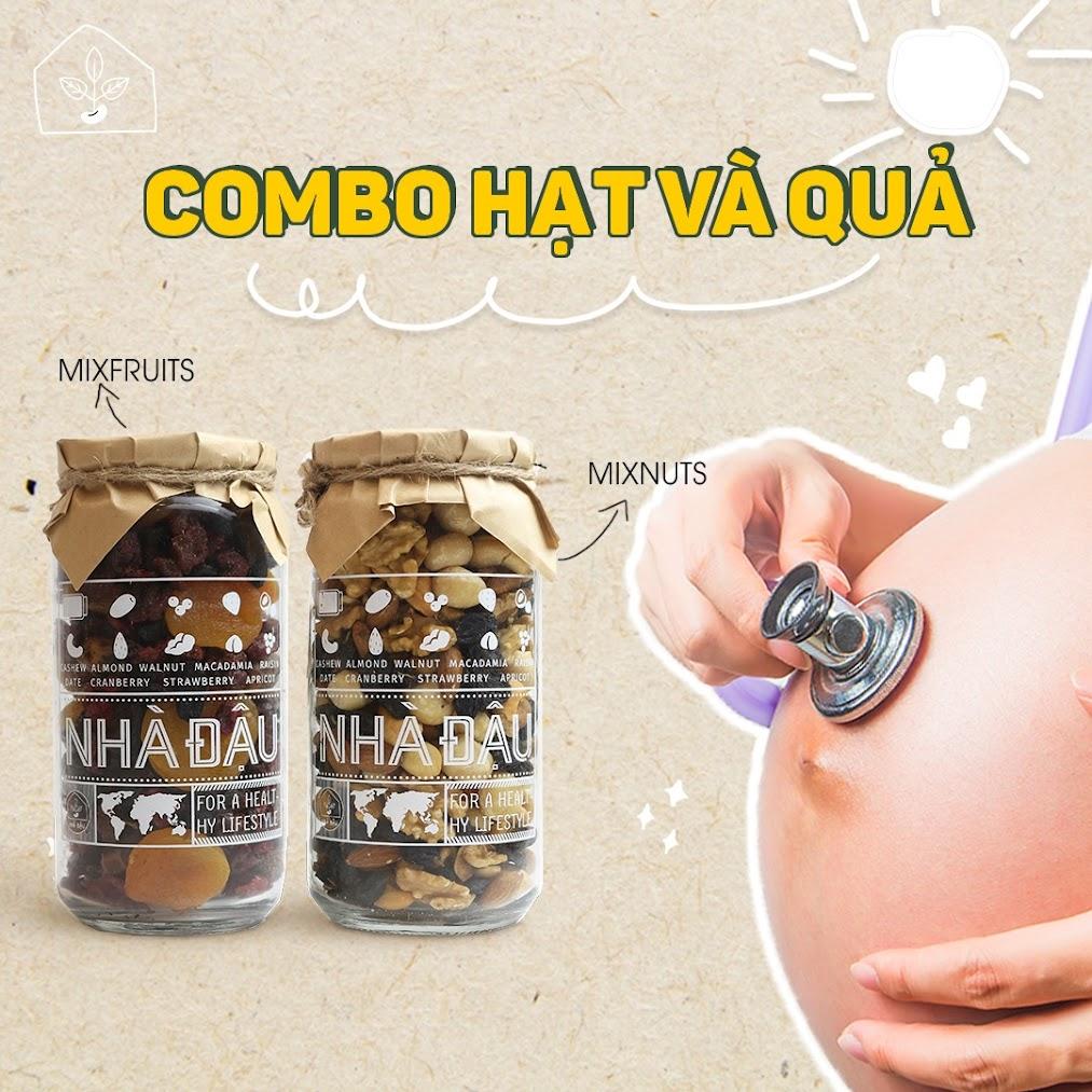 Ăn vặt cho Mẹ Bầu, dinh dưỡng cho thai nhi với Combo dinh dưỡng