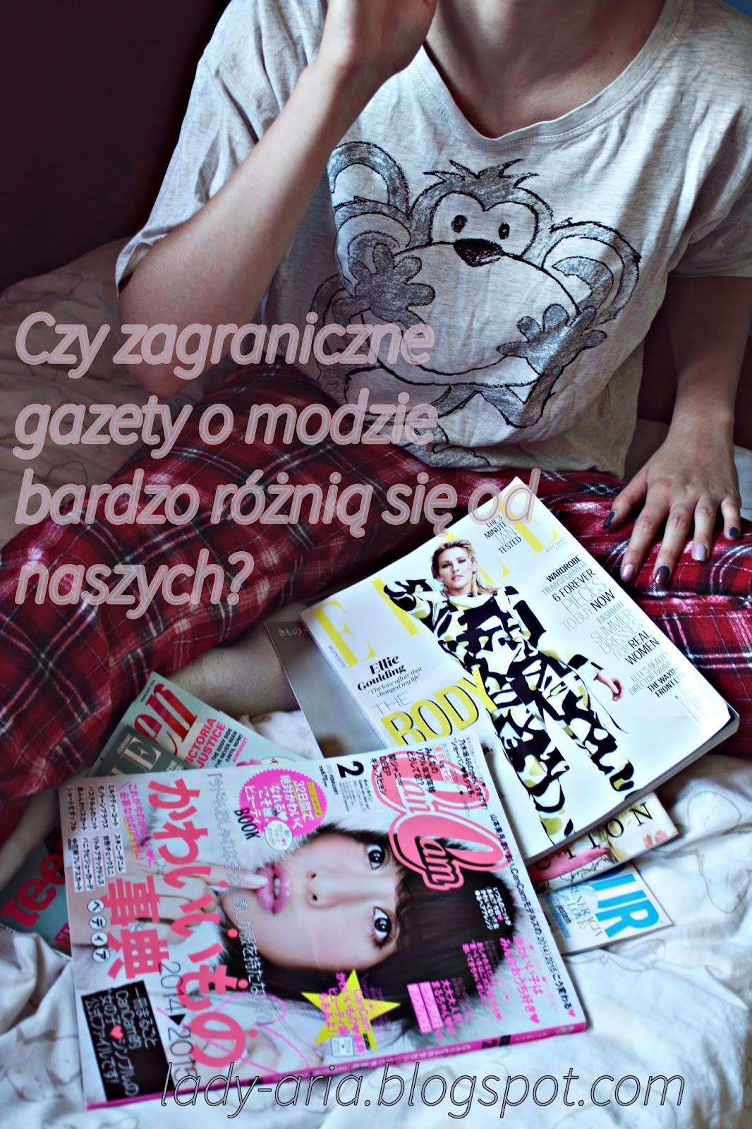 Czy zagraniczne gazety o modzie bardzo różnią się od naszych?