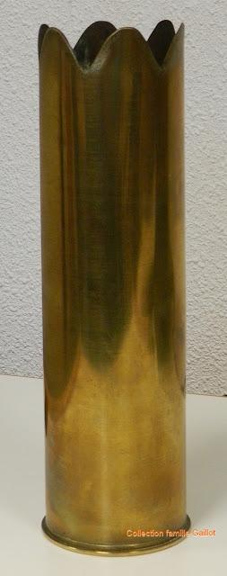 Guerre 14-18 : Douille sculptée (1918)