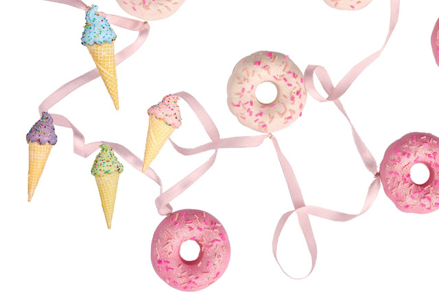 ice cream and donuts Christmas decor