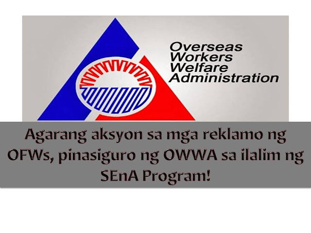 The Overseas Workers Welfare Administration (OWWA) is happy to announce that more than P135 million worth of monetary benefits was given to its member last year.  The amount was paid to 5,671 overseas Filipino workers members from January to November 2016 through single-entry approach (SEnA)Program according to OWWA administrator Hans Cacdac.
