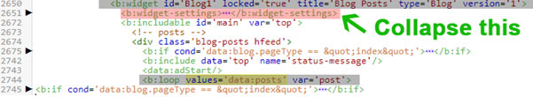 paste in-feed ad unit code in blogspot template