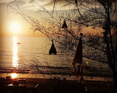 Foto van de zonsondergang op Ko Lanta Eiland