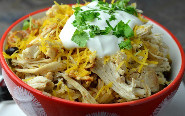 Instant Pot Chicken Taco Bowls from Wonder Mom Wannabe