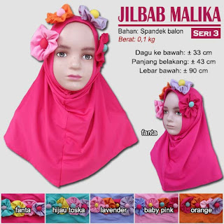 Jilbab anak terbaru lucu dan imut - malika seri 3