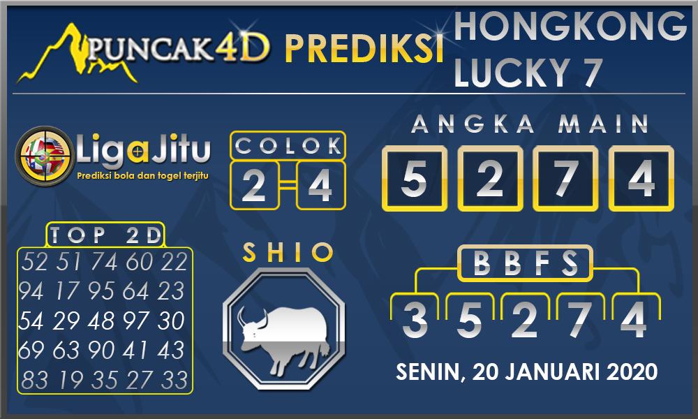 PREDIKSI TOGEL HONGKONG LUCKY7 PUNCAK4D 20 JANUARI 2020