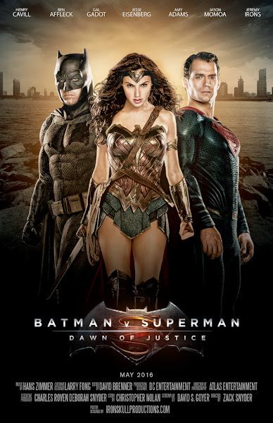 Poster Of Batman V Superman Dawn of Justice 2016 720p Hindi HDTC Dual Audio Download