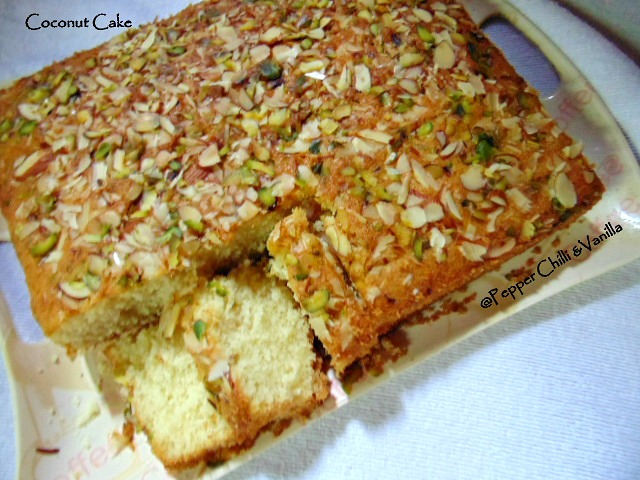 coocnut cake with suji,easy coconut cake