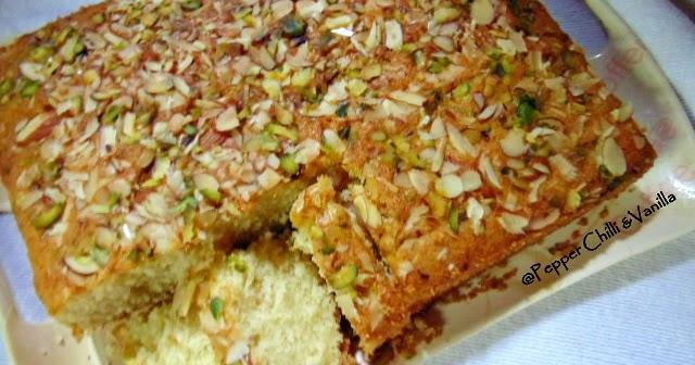 Vegetarian Almond Sugee Cake Recipe