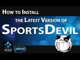 kodi sportsdevil install