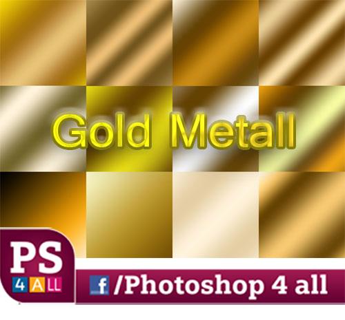 تدرجات لونية باللون الذهبى للفوتوشوب