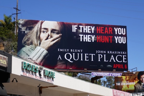 A Quiet Place movie billboard