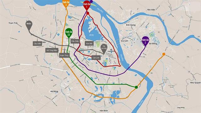Quy hoạch tuyến đường vành đai 2.5