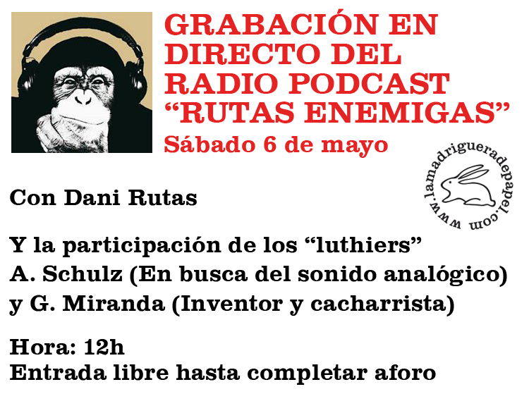TOLEDO-LIBRERÍA-LA MADRIGUERA DE PAPEL-ACTIVIDADES-RADIO-RUTAS ENEMIGAS