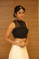 Roshni Prakash in a Sleeveless Crop Top and Long Cream Ethnic Skirt 100.JPG