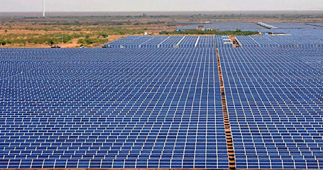 Image Attribute: Aerial view of Adani Power's Kamuthi Solar Power Plant,  Ramanathapuram, Tamil Nadu, India