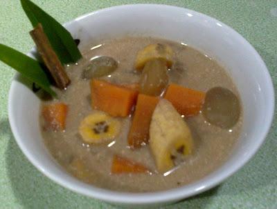 Resep atau cara membuat kolak pisang ubi, resep aneka kolak ramadhan.