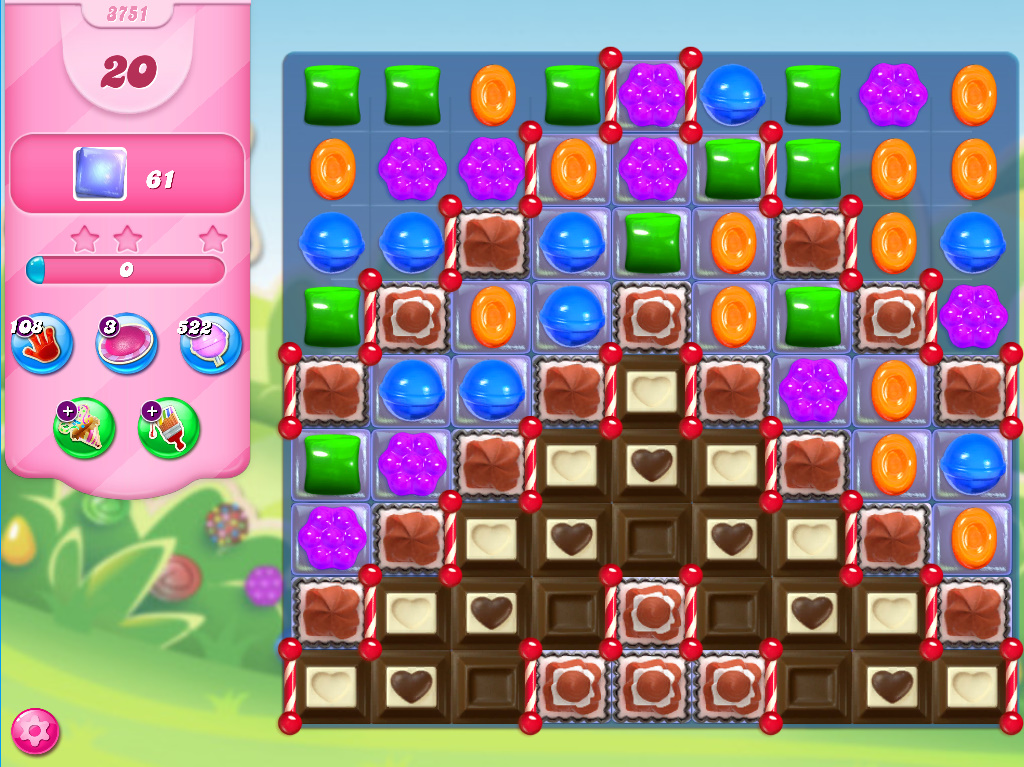 Candy Crush Saga level 3751