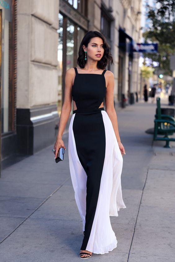 Look do dia de Annabelle Fleur - Vestido preto e branco Blog VivaLuxury
