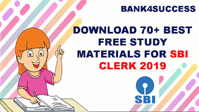 SBI Clerk 2019 Free Books and Study Materials PDF - Download Now