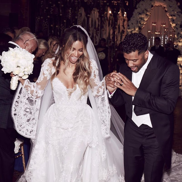 STYLE CRUSH: CIARA'S WEDDING DRESS BY CAVALLI COUTURE