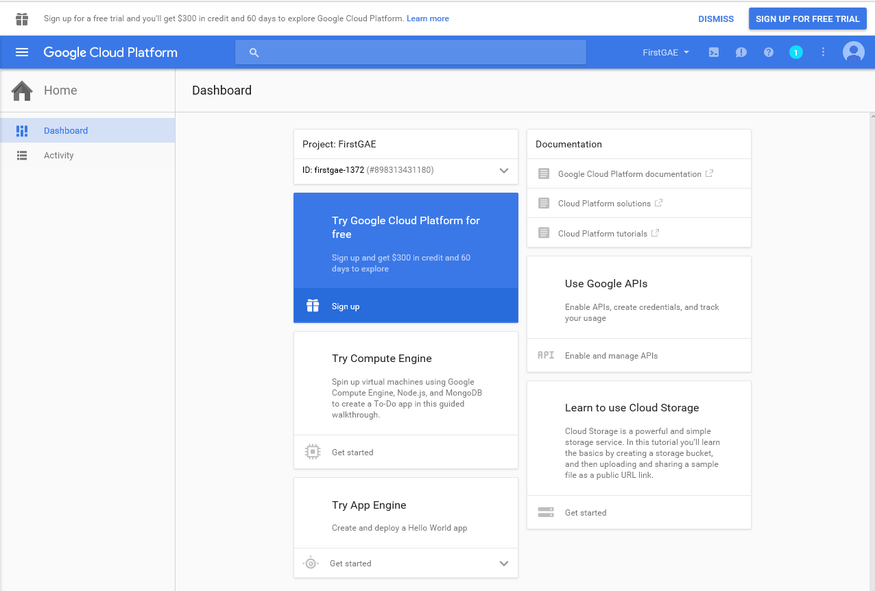 Sandip patel google app engine with example 4 you can find your created application information from dashboard baditri Choice Image