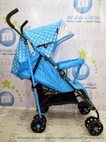 Kereta Dorong Bayi BabyDoes CH206 Clip Buggy Blue