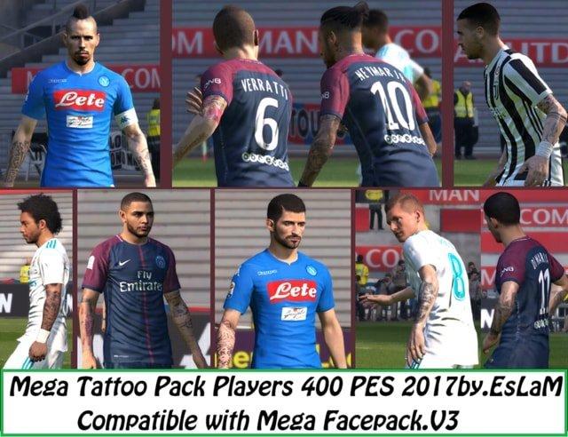 Mega Tattoo Pack PES 2017