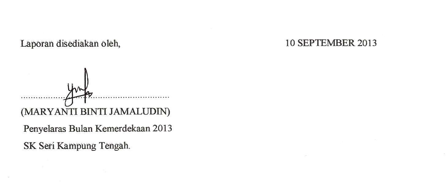 Bahasa Melayu Laporan Sambutan Bulan Kemerdekaan 2013