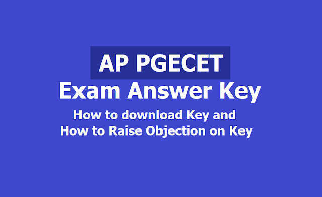 AP PGECET Answer key 2019, How to download? and How to raise Objection on Key