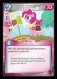 MLP Chancellor Puddinghead, Equestrian Founder Marks in Time CCG Card