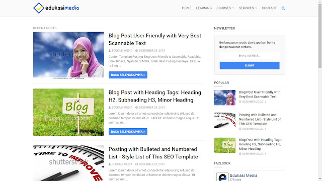 Responsive and SEO Friendly Blogger Template