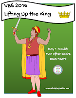 http://www.biblefunforkids.com/2016/07/lifting-up-king-vbs-king-david.html