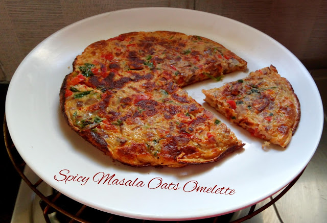 Spicy Masala Oats Omelette Recipe