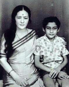 Most shy and humble boy sitting with his mother, Jaggu Dada- Jackie Shroff.