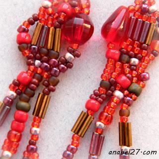 Серьги в стиле бохо из бисера и бусин