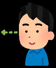 五感のイラスト(視覚・男性)